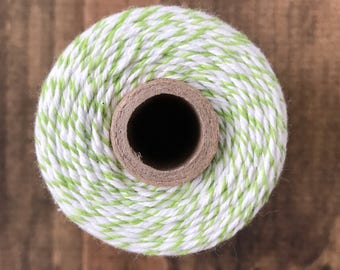Green and white bakers twine, Divine twine