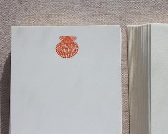 Flat Card Set with Letterpress Shell (vertical)