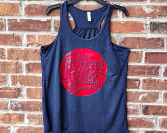 No Crying in Baseball, There's No Crying in Baseball Tank, Baseball Tank, Baseball Mom Tank, Baseball Mom, Baseball, Baseball Mom Shirt