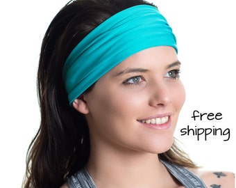 Sports Headbands, Reversible  - Moisture Wicking - Non-Slip - Exercise Sweatband - Ideal for Fitness Workouts, Running, the Gym & Yoga