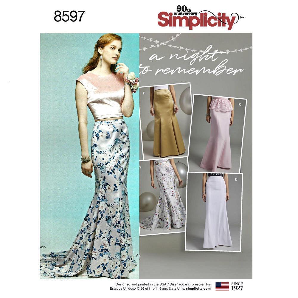 Misses Mermaid Skirt, fishtail Skirt, Formal Skirts, Sewing Pattern ...