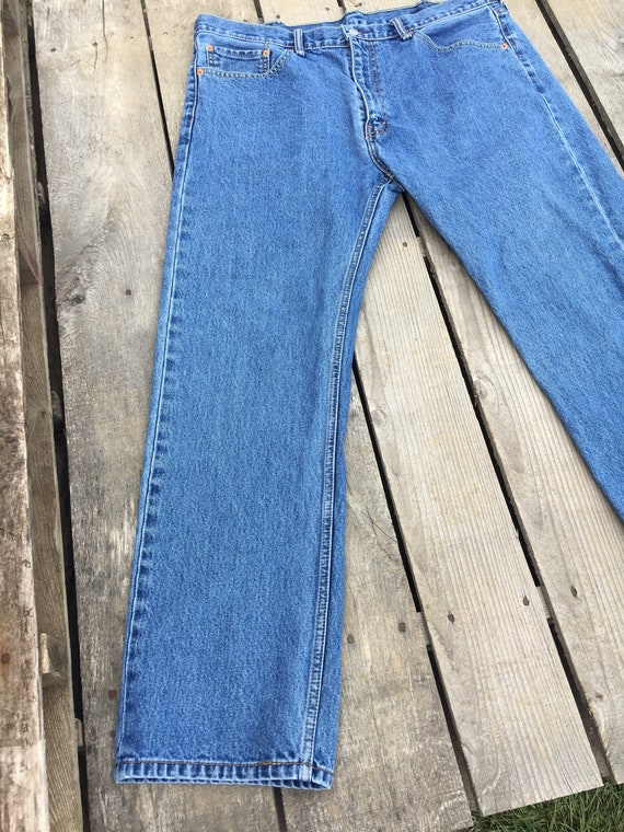 40 Co Rise Jeans x High Vintage Jeans Mens Levis 32 Waist Pants Strauss Levi Mom Jeans Clothing 505 1990's Men's Blue aAxqaw0Ht