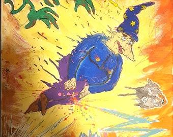 Wizard Hurdling Through Hell