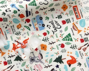 Laminated Cotton Fabric Camping White By The Yard