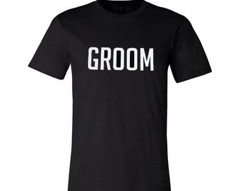 SALE Groom Tee, Husband Gift, Bachelor Gift, Guys Shirt, Shower Gifts, Engagement, Wedding