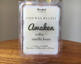 Coffee Vanilla Bean // Wax Melts // Awaken • 100% Soy | Non-GMO | Non-Toxic