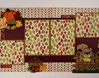 Fall Double Page Scrapbook Layout