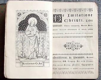 Antique Book - De Imitatione Christi, 1902, H J De Clerck
