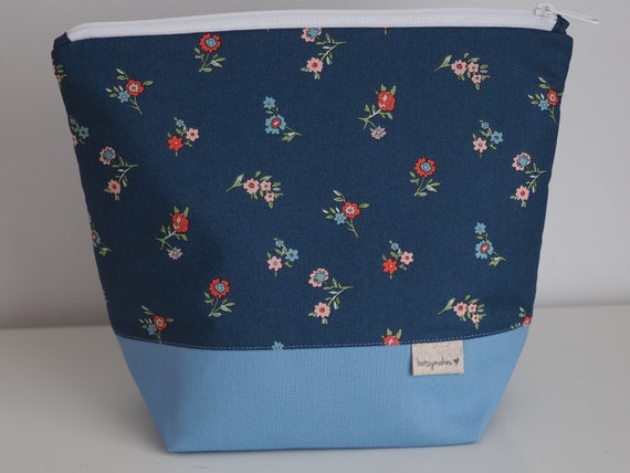 Blue Liberty Print Project Pouch