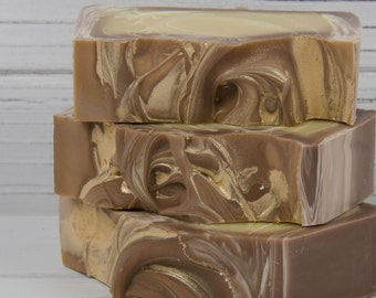 Amber Soap  - Patchouli - Sandalwood - Vanilla - Homemade Soap - Cold Process Soap