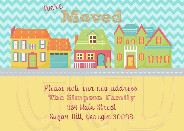 New home card or housewarming party invitation digital file zoom stopboris Choice Image