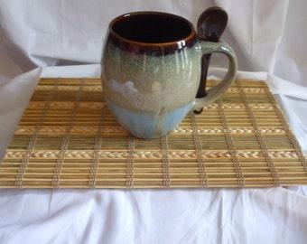 Natural Wood Bamboo Sisal Mug Rug Coaster, Candle Mat, Trivet