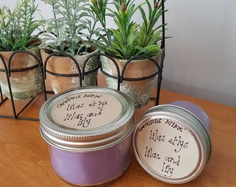 Lilac and lily Coconut Soy candle