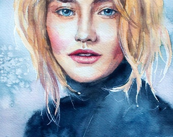 Custom watercolor portrait/Custom painting