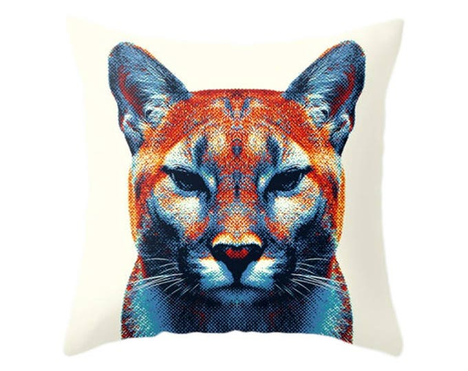 Puma Pillow - Colorful Animals