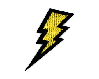 Lightning Sew On / Iron On DIY Patch Embroidered Applique 2.8x6cm - RP328