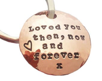 DIY Design Copper Key chain 7th anniversary gift for husband  gift for wife traditional giftwrapped