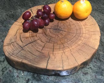 Round Live Edge Reclaimed Ash Cheese Board
