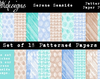 Serene Seaside Patterned Paper Pack