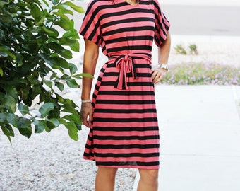 Audrey Dolman Dress PDF sewing pattern for womens dress, womens dolman top dress pdf sewing pattern Seamingly Smitten