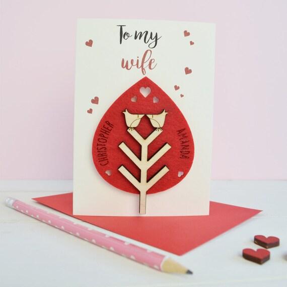 Wife's Valentine's card - Valentine's - love card - love