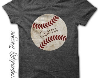 Iron on Baseball Shirt PDF - Sports Iron on Transfer / Customized Baseball Tshirt / Toddler Boys Sports Outfit / Digital Printable IT291