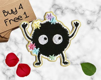 Cartoon Patch Soot Patches Iron On Embroidered Patches