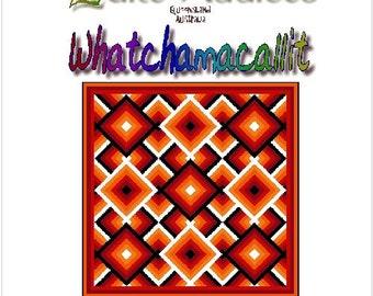 WHATCHAMACALLIT - Quilt-Addicts Patchwork Quilt Pattern