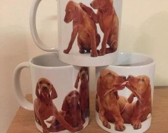 Hungarian Vizsla Puppy Mug Set x3, Dog Mug set
