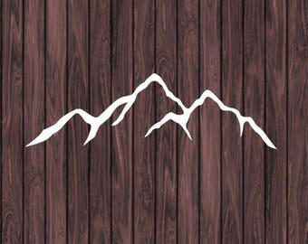 Mountain Decal, Mountain Stickers, Car Decal, Laptop Decal, Vinyl Sticker, Vinyl Decal, Nature Decals, Window Decals