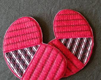 Set of two Homemade butterfly shaped pot holders