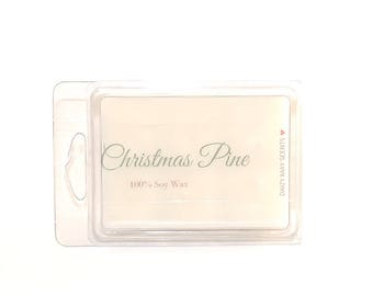 Christmas Pine Scented Soy Wax Melts / Soy Wax Tarts / Cinnamon, Nutmeg, Pine Scent