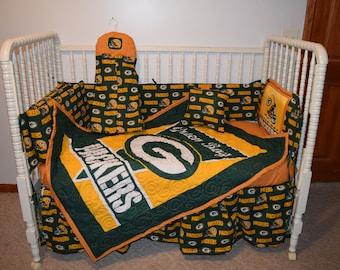 New Crib Bedding m/w Green Bay Packers Fabric