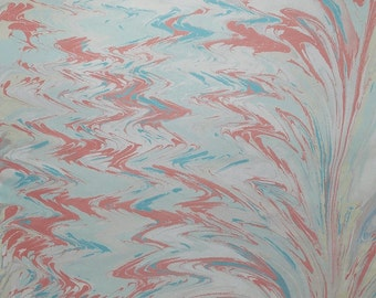 Marble Paper 2015-10 for bookbinding or scrapbookingprojects on 50x70cm gray construction paper 130g / sqm