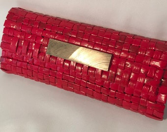 Eco Friendly Red Unique-Handmade Clutch