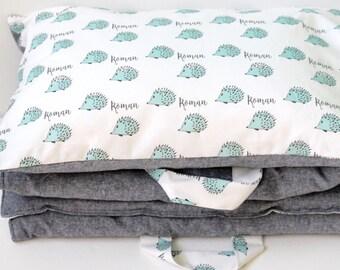 Personalized Nap mat - Preschool Nap mat -Toddler Nap mat With Name - Nap-mat For boys - Daycare Napmat - Sleeping Bag - Napmat with Pillow