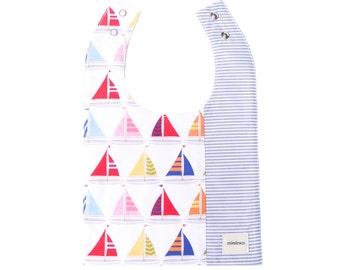 Miminko Baby Bib: Sailboats