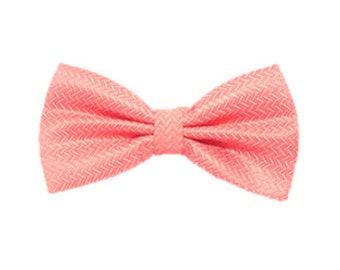 Coral Bow Tie Wedding Bow Tie Pre-tied Bow Tie Groomsmen Gifts Casual Bow Tie