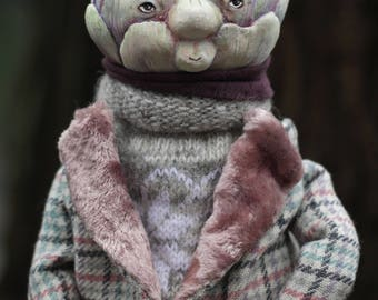 Artichoke collectible artist doll.