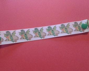 Dragon Ribbon pacifier clip