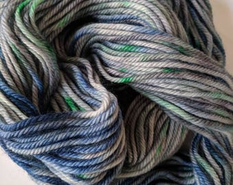 Bulky Grey Blue Green Wool Alpaca Blend Yarn