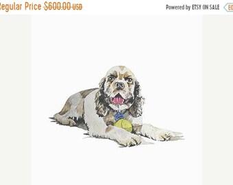 ON SALE Canine Watercolor Pet Portraits By Commission - You Provide the Photo - I Paint the Pet Portrait - DCGotlib