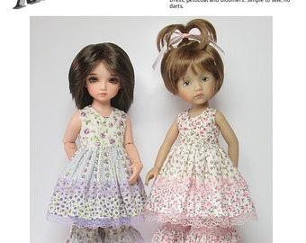 "STRAIGHTFORWARD Sewing Pattern SSP-058: ""Playtime"" for 10.5"" (26cm)  Effner Boneka and Iplehouse BID. Dress, petticoat & bloomers."