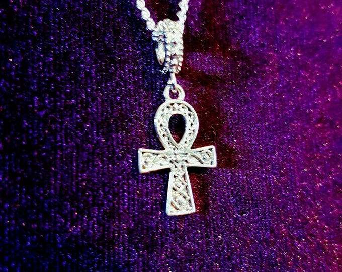 925 Sterling Silver Ankh - ankh 925 sterling silver  egypt gothic set apep isis vampiregoth vampire occult dracula