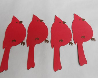 50 Cardinals. 4 inch. Die Cut Tag, Wedding, Wishing Tree, Cards, Etc.