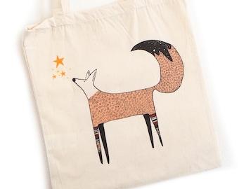 Fox tote bag feet