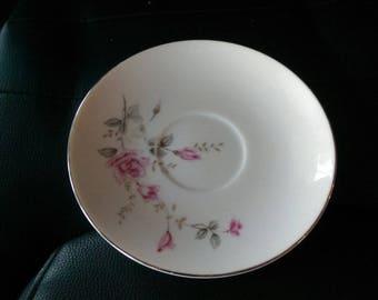 "6"" Plate / Saucer - Castlecourt - Rose Glow Fine China - Vintage"