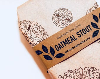 Oatmeal Stout Double Butter Beer Handmade Soap - beer soap - handmade soap - beer soap bar - handmade beer soap - soap - soap gift - soaps
