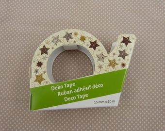 Christmas masking tape roll: stars