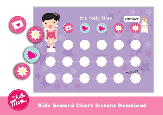 girl potty chart